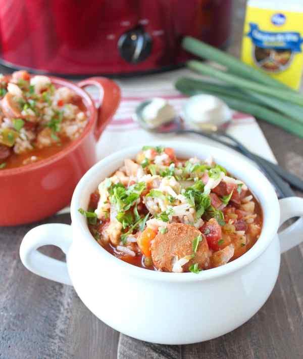 Slow Cooker Chicken & Sausage Jambalaya Recipe