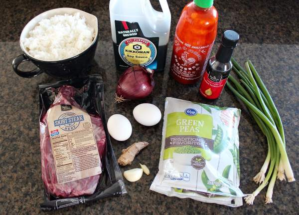 Sriracha Steak Fried Rice Ingredients