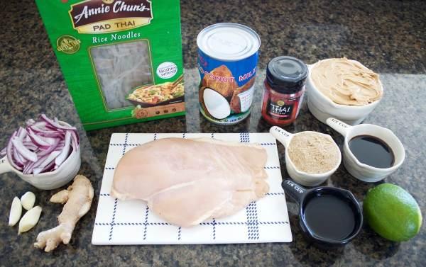 Thai Peanut Chicken Stir Fry Ingredients