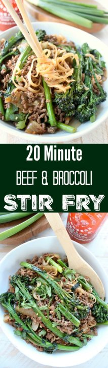 20 Minute Beef & Broccoli Stir Fry Recipe