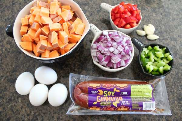Mexican Sweet Potato Hash Ingredients