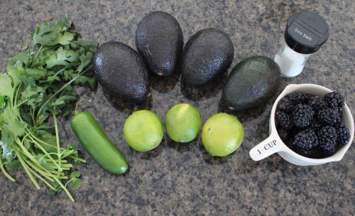 Blackberry Jalapeno Guacamole Recipe Ingredients