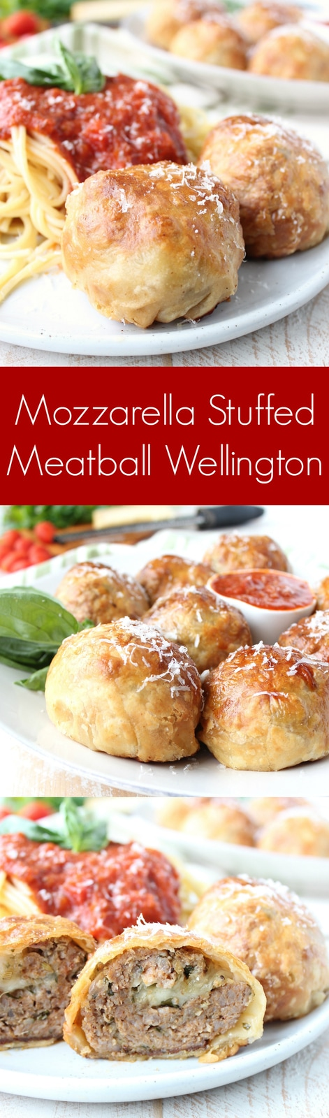Mozzarella Stuffed Meatball Wellington Recipe