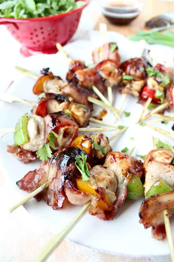 Bacon Wrapped Teriyaki Chicken Skewer Recipe