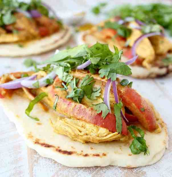 Indian Curry Chicken Tacos