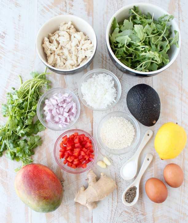 Coconut Crab Cakes Recipe Ingredients