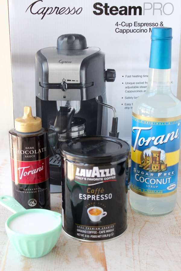 Mocha Coconut Iced Latte Ingredients