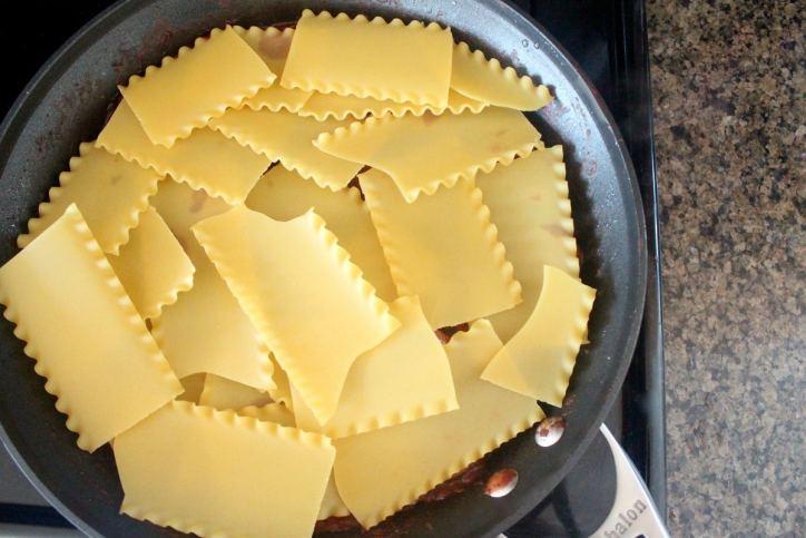 Mushroom Sausage One Pot Lasagna Recipe