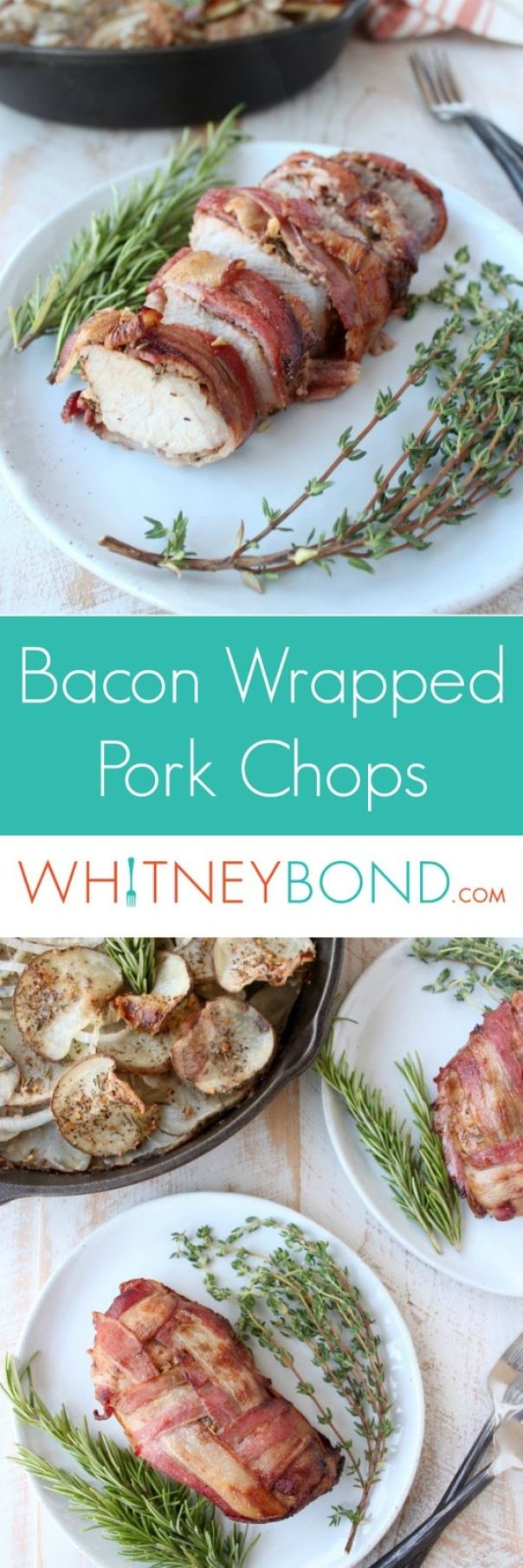 Bacon Wrapped Pork Chops Recipe