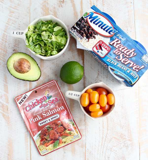 Salmon Taco Rice Bowl Recipe Ingredients