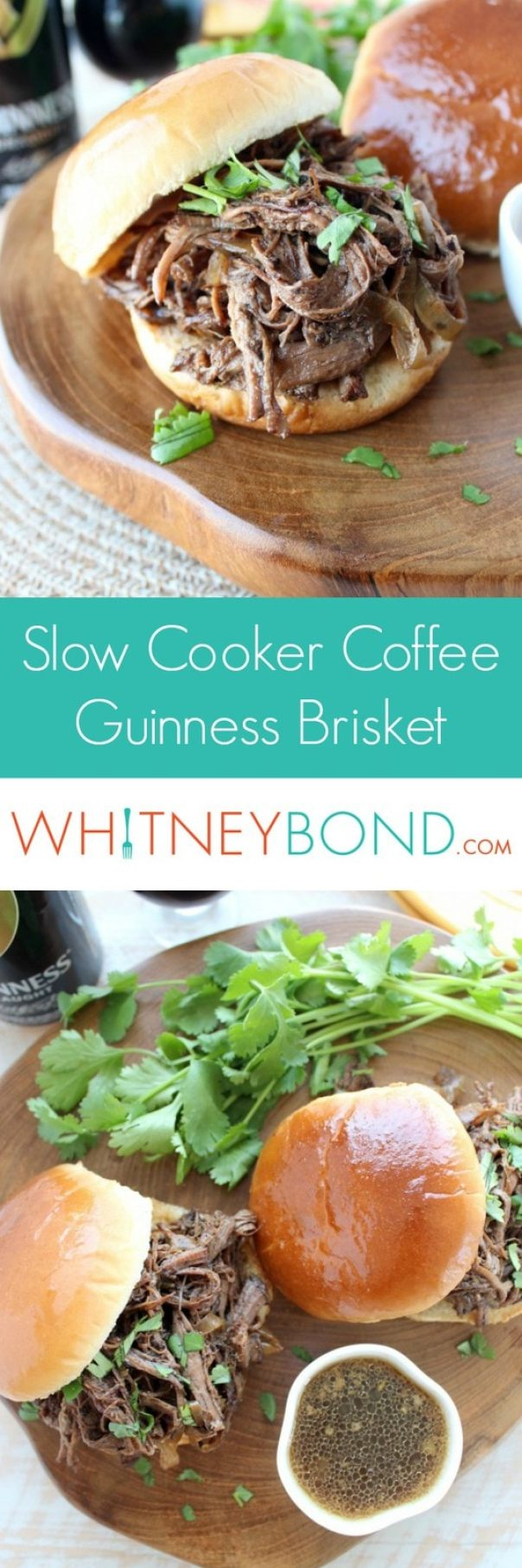 Slow Cooker Coffee Guinness Brisket Sandwich