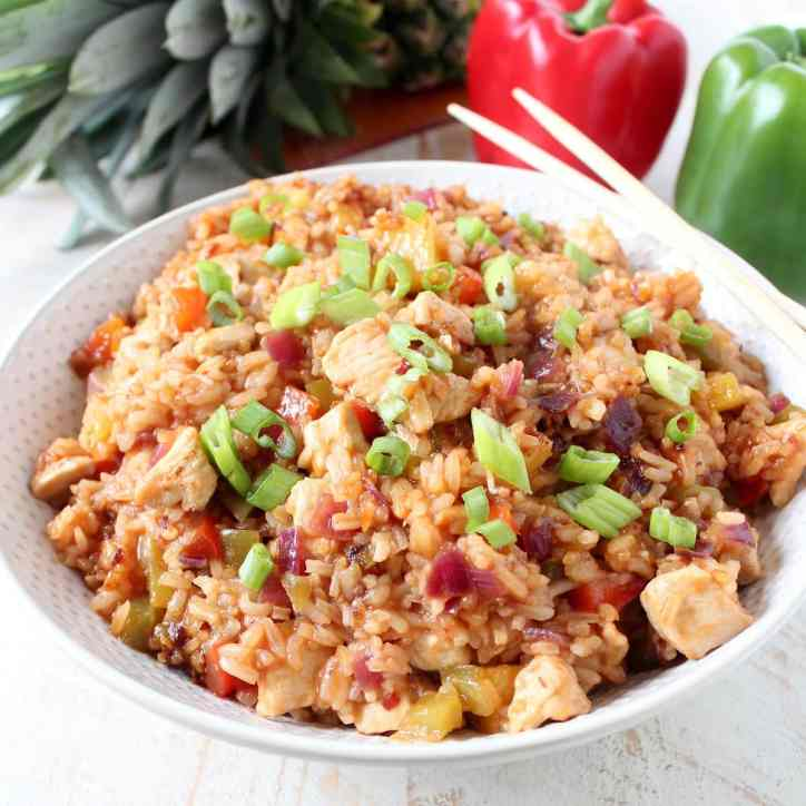 Sweet & Sour Chicken Fried Rice Recipe