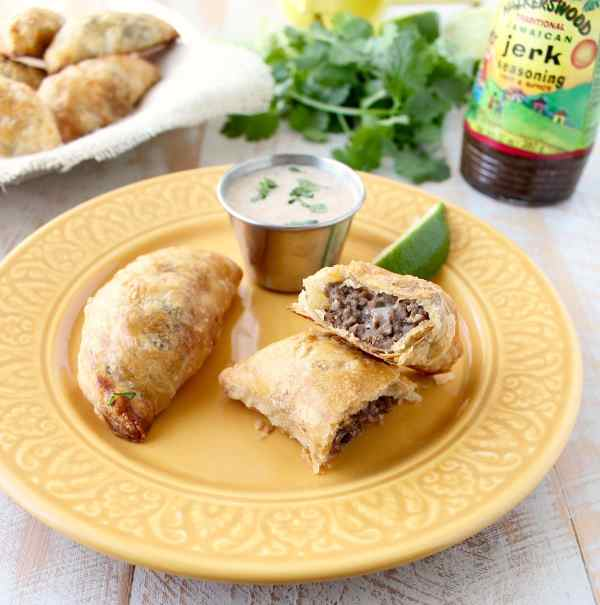 Jamaican jerk seasoned beef patties are a popular dish in Jamaica. In this recipe, the patties are made into the perfect size for a party appetizer!