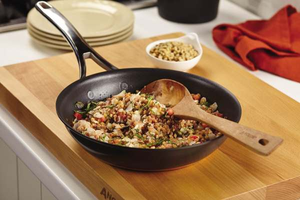 This farro recipe combines the nutty Italian grain with prosciutto, pine nuts and provolone for an easy and delicious main or side dish.