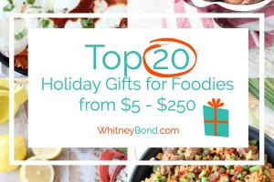 Looking for the perfect gift to buy your friend or family member for Christmas? Look no further than these Top 20 Gifts for Foodies, ranging from $5 - $250!