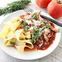 Slow Cooker Chicken Ragu