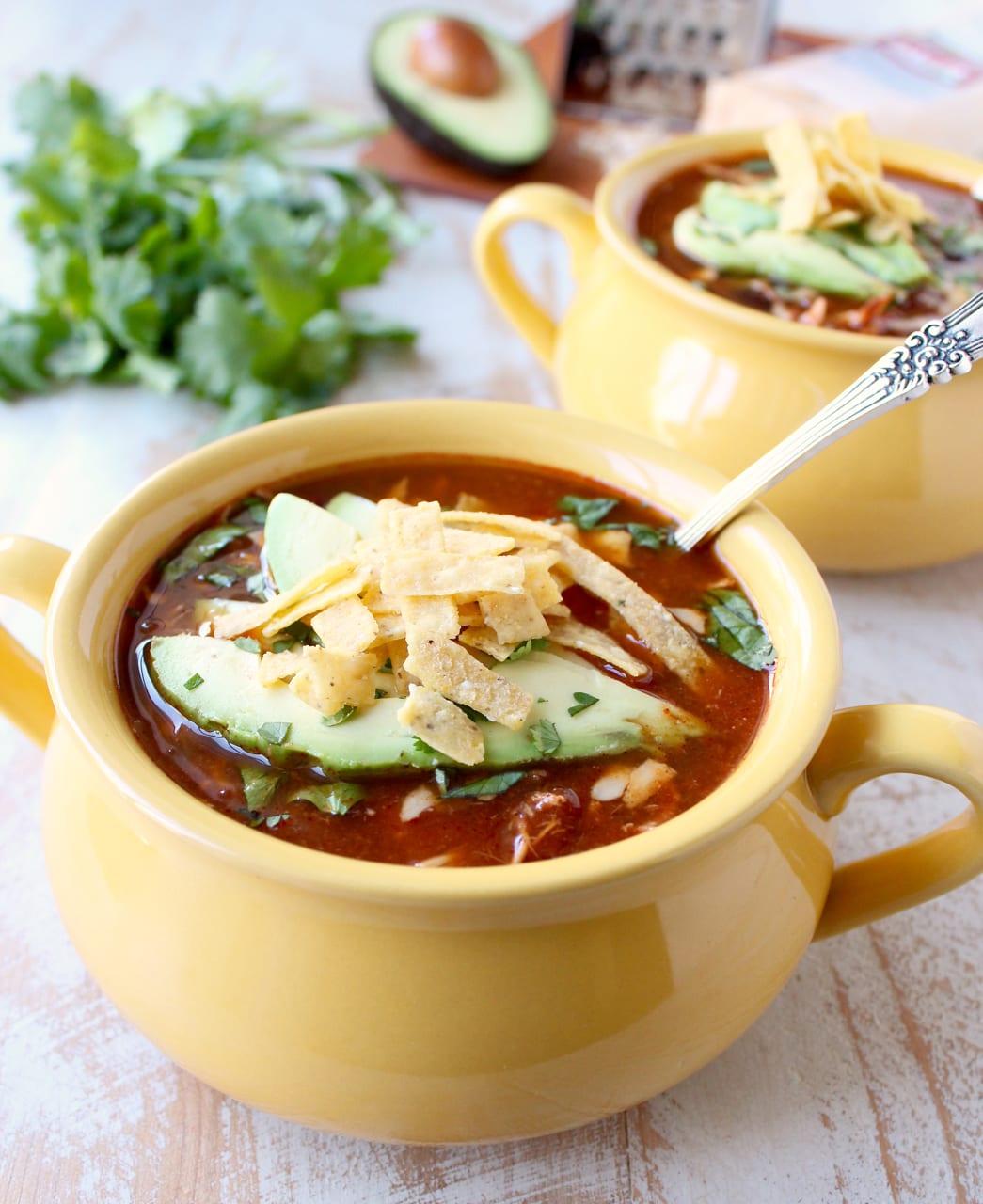 Spicy chicken quesadilla soup recipe