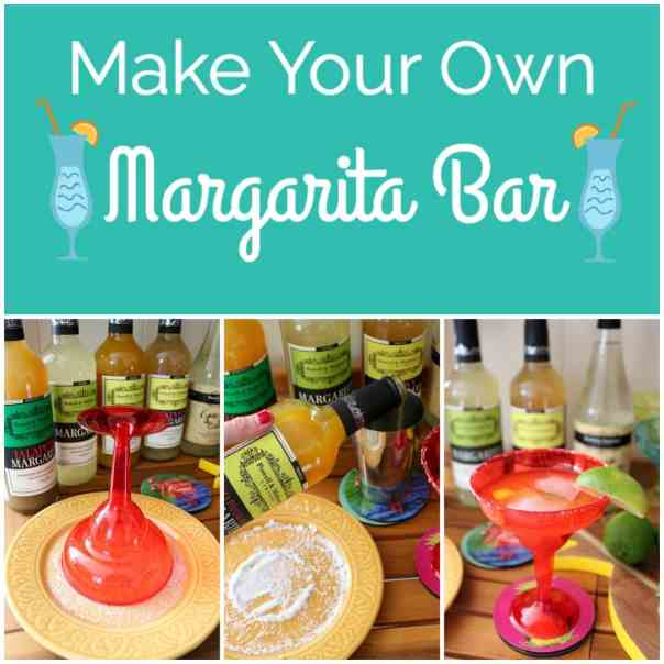 There's nothing more fun than a make your own Margarita Bar! Create one with ease for your next party or event and impress all of your guests!
