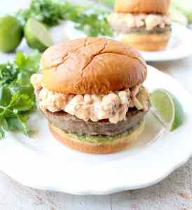 Mexican Street Corn Turkey Burgers