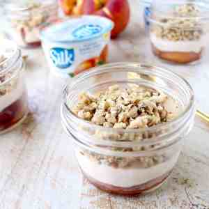 Vegan Parfait with Grilled Peaches