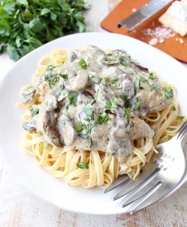 Creamy Mushroom Chicken Parmesan