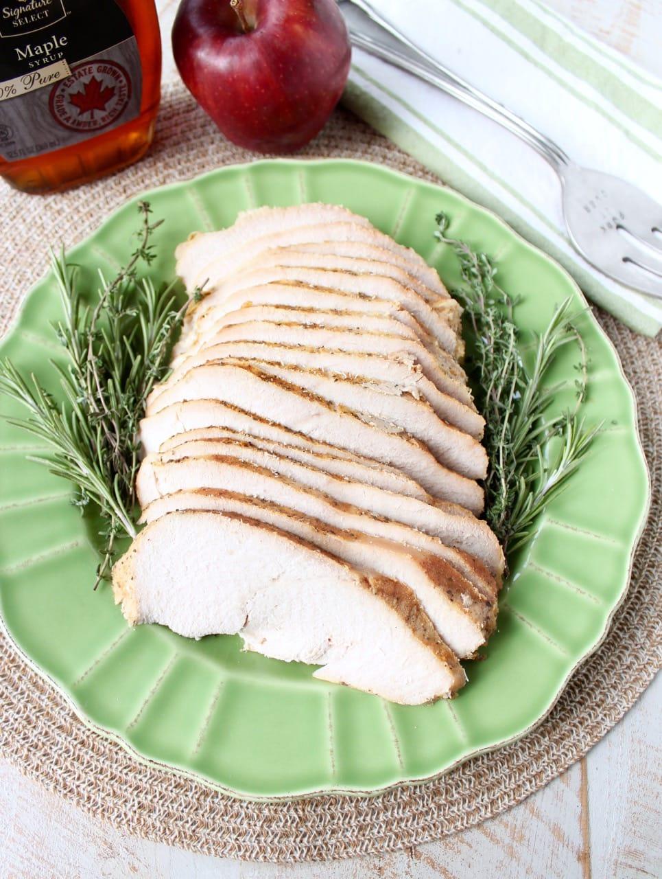 Apple maple turkey breast
