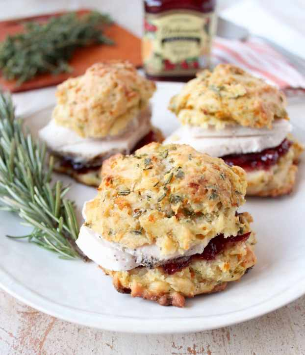 Satisfy your stuffing cravings anytime of the year with this quick & easy stuffing biscuit recipe, perfect for breakfast or making turkey sliders with Thanksgiving leftovers!