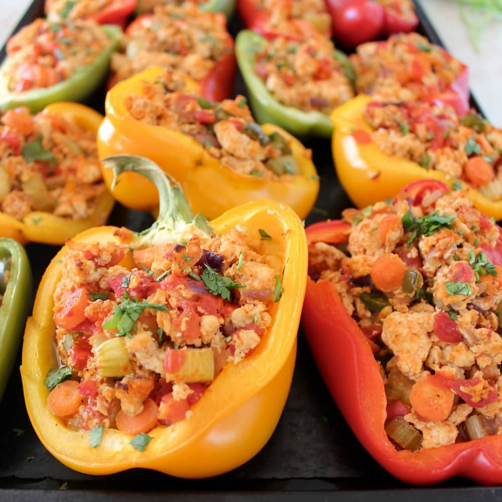 Buffalo Chicken Stuffed Peppers - Whole 30 Recipes