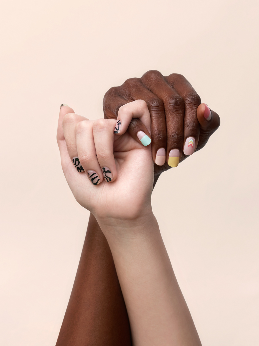 product photography black and white models hands support black lives matter