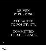 Be Driven By Excellence And Committed To Purpose