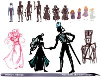 Clara and Nutcracker Designs for Silhouette Animation
