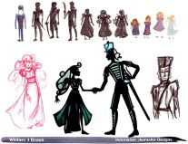 Clara and Nutcracker Designs for Silhouette Animation
