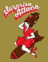 """""""Surprise Attack"""" TShirt Design for the Mojave Fly-In 2016"""