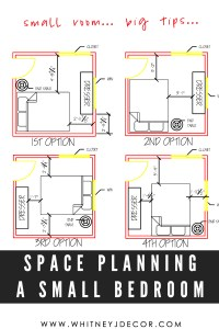 space planning small space bedroom