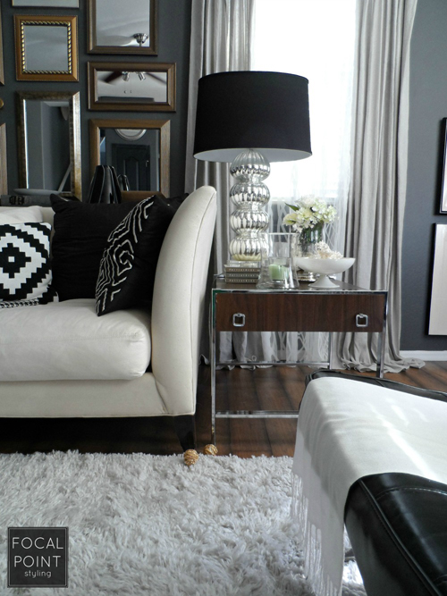 BLACK & WHITE LIVING ROOM LYNDA QUINTERO-DAVIDS FOCAL POINT STYLING  (4) 1000