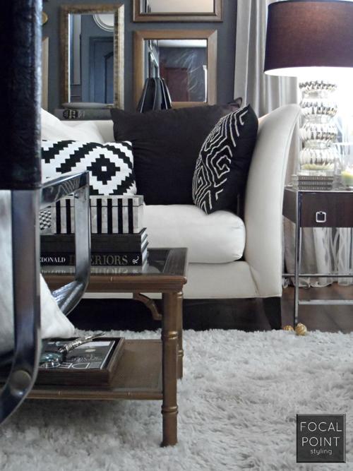 BLACK & WHITE LIVING ROOM LYNDA QUINTERO-DAVIDS FOCAL POINT STYLING  (9) 1000
