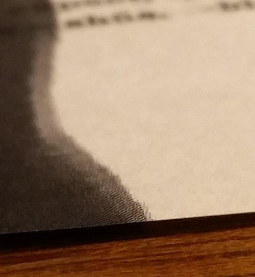 a closeup of the paper