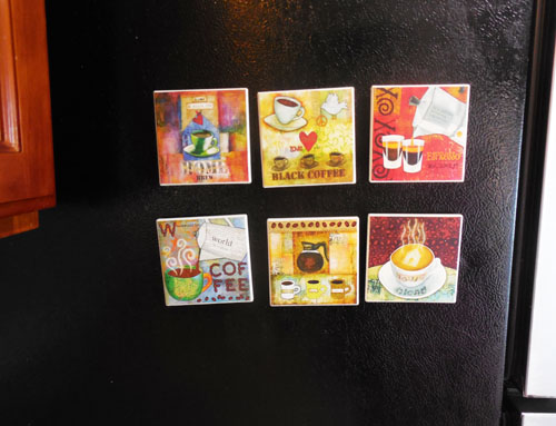 diy coaster magnets for your fridge