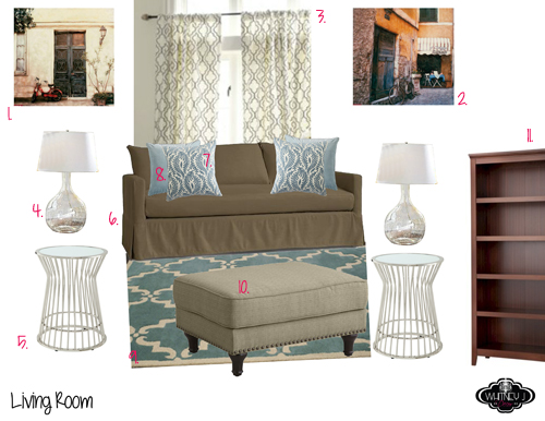 design board for living room - e decor package