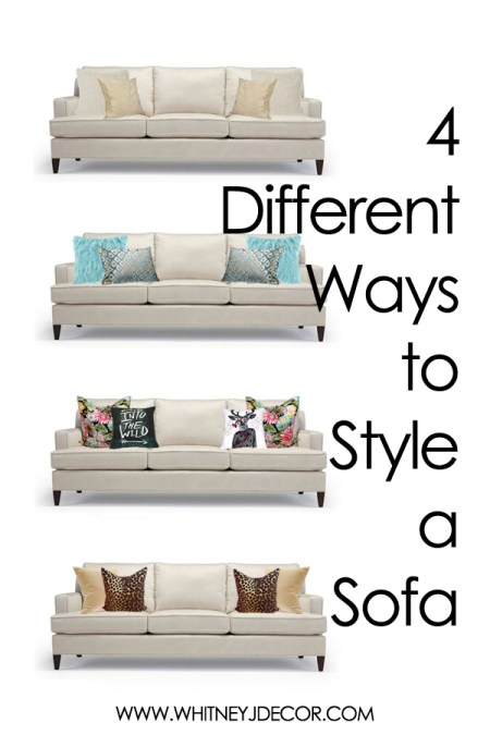 4 ways to style a sofa with pillows