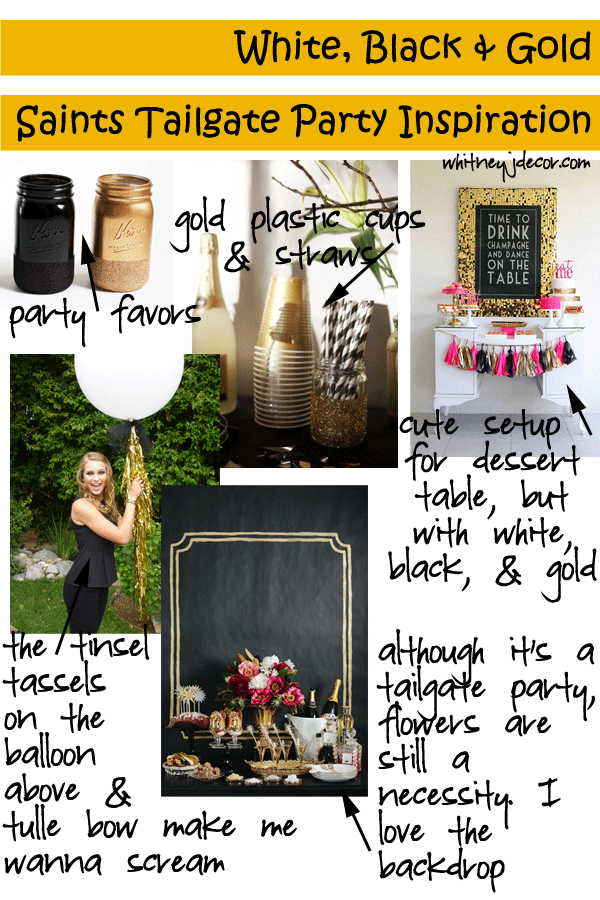 saints party decor inspiration