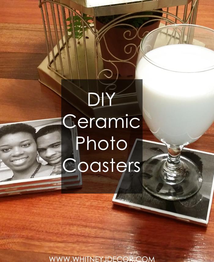 DIY ceramic photo coasters