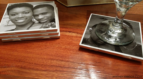 DIY ceramic photo coasters