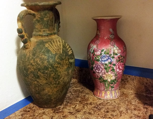 thrifted finds - urn and vase