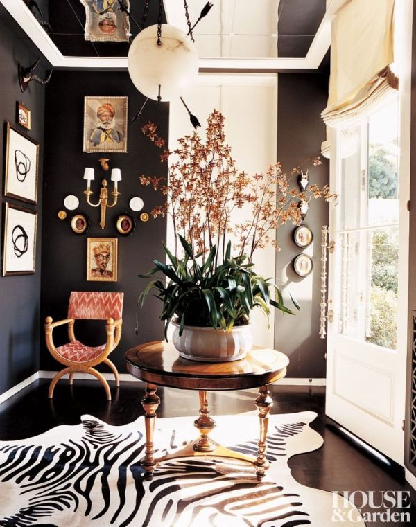 domaine home black walls small spaces