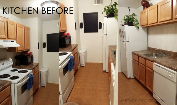 small kitchen update in an apartment - before photos