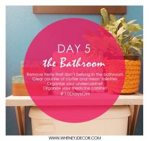 organize bathroom