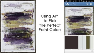 using art to pick paint colors