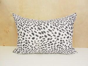 black and white cheetah print pillow