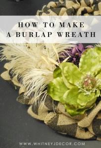 how to make a Fall burlap wreath